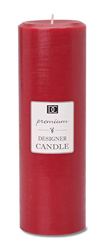 Pillar Candle Red Unscented 3 X 9 Inches (3 Pack)