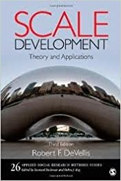 Book Scale Development: Theory and Applications (Applied Social Research Methods) 3th (third) edition