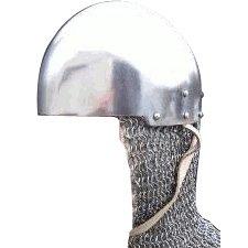 Casco Secreto - C. Siglo XIV, Casco Bacinete Medieval, Recreación histórica, cascos