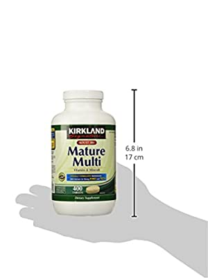 Kirkland Signature Adults, 50 plus Mature Multi Vitamins & Minerals, 400-Count Tablets