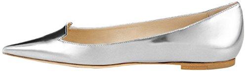 Women's silver Cacow metallic Calaier Flats Ballet silver BwIBdq