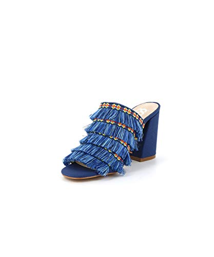Frangée Cote Bleu Leila D'azurMule Cassis 6bfy7gY