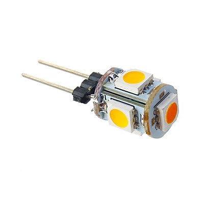 1W G4LED Lampes de maïs T 5SMD 505070lm Blanc chaud dc 12V
