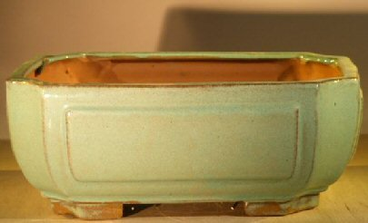 Bonsai Boy's Light Blue Green Ceramic Bonsai Pot - Rectangle 10 x 8 x 4