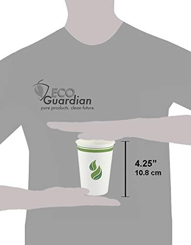 Eco Guardian 12 Ounce Compostable PLA-Lined Drinking Cup, White, 1000 Pack by Eco Guardian (Image #1)