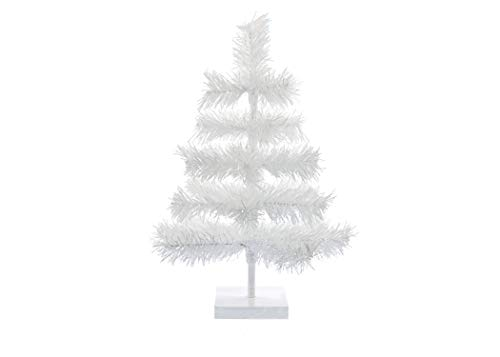 EST. LEE DISPLAY L D 1902 24'' Classic White Tinsel Feather Tree Tabletop Christmas Retail Tree by EST. LEE DISPLAY L D 1902 (Image #1)