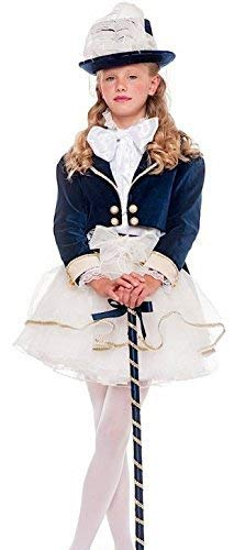 9 years Italian Made Girls Deluxe 1920s Posh Lady Sailor Dance Troupe Carnival Fancy Dress Costume Outfit 3-11 years (9 years)