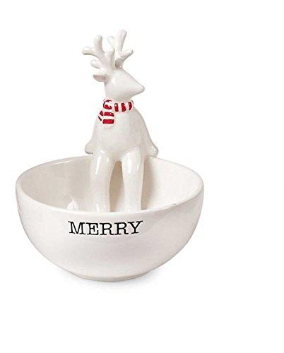 Mud Pie Deck The Halls Christmas Holiday Dip Cup (Reindeer)