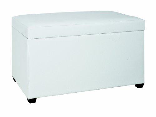 Haku Möbel 30386 Baúl DM/Símil Cuero Blanco 40 x 65 x 42 cm: Amazon ...