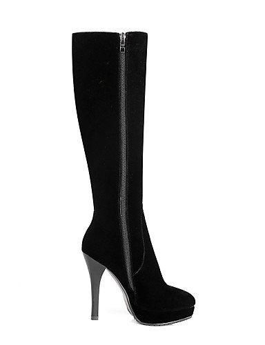 Mujer Zapatos Redonda Tacón De Cerrada Punta Noche Black Eu36 Vestido Y Stiletto Uk3 us8 Cn35 Black us5 5 Moda Cn39 Fiesta Negro 5 Uk6 A Botas Xzz Vellón Eu39 La EY5dwtxE