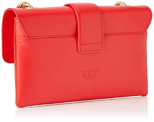 De Soft Hombro Cinese borchiette Y Shoppers Mini Mujer Tracolla Bolsos Pinko Rojo rosso Love Seta Vitello rosso wTxYPEYvqa