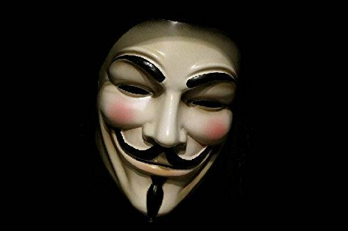 V for Vendetta Mask Adult Mens Guy Fawkes Anonymous USA Occupy Halloween Costume (Costume Jobs)