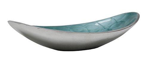 """Artisan d'Orient Boat bowl 11"""", Color - Aqua"""