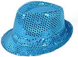 Solid Color Sequins Fedora Hat (Light -