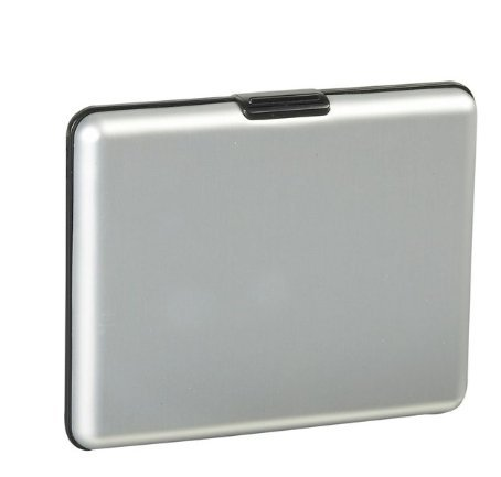 Honb® Aluminum Wallet Credit Card Holder Incredible Wallet with Rfid Protection (XL Silver)