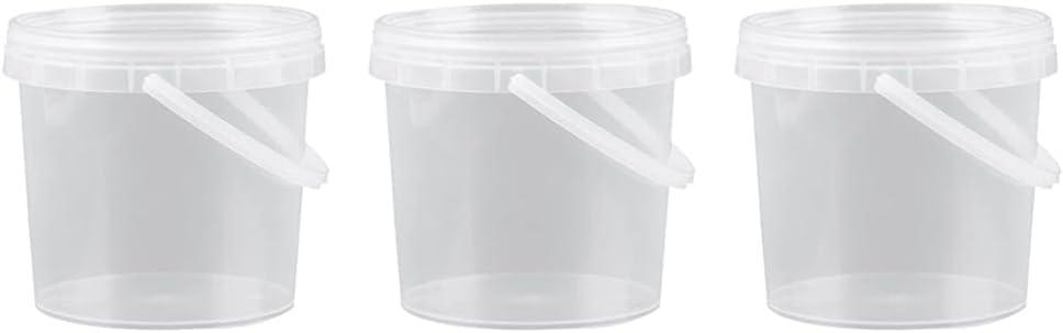 POPETPOP 3Pcs Fish Food Bucket Sealing Pet Dried Food Container Transparent Cereals Bucket Box for Bird Dog Cat Fish Food Storage