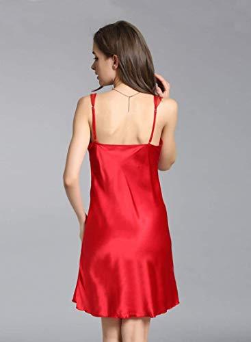 Espalda De Camisón Rot Mujeres Las Negligee Elegante Sin Mangas Dormir Mode Pijama Marca Ropa Verano Lencería Moda Sling q8qHpxr