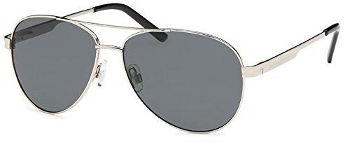 à avec Fumé Unisexe qualité accessoires Argent pilotes de lunettes Charnière avec dans ressort soleil Set haute Verre Filter et UV400 polarisé OSpq4w11f