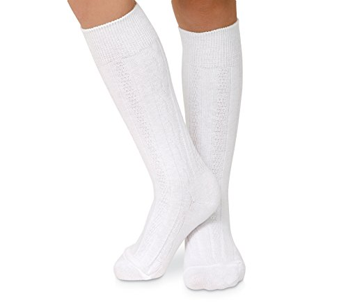 Jefferies Socks Womens Cable Knit Knee High Socks 3 Pair Pack (Sock:9-11/Shoe:6-9, (Cable Knee High Socks)