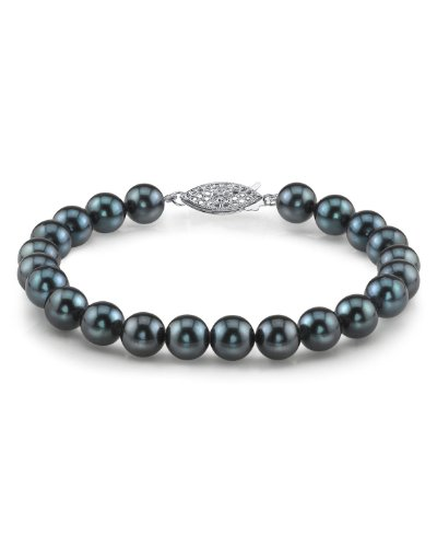6 0 6 5mm Black Cultured Pearl Bracelet product image