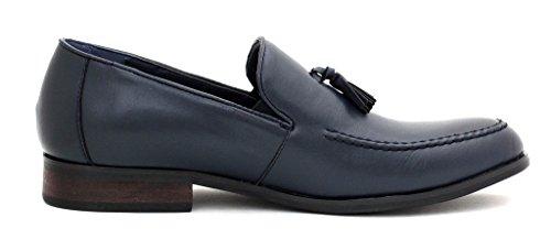 Uomo Elegante Numero Alla Designer Scarpe Casual Abito Lavoro Navy Da Slip Moda UK On Nappa Mocassini prpTw