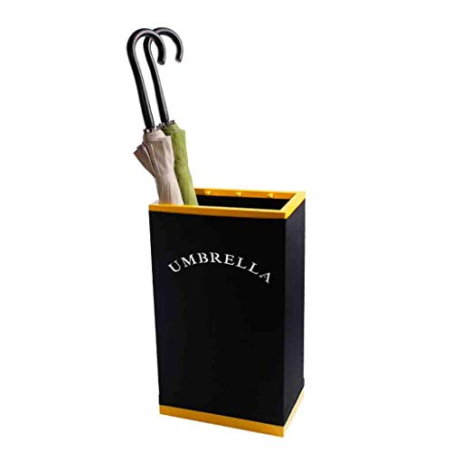 Umbrella storage rack Simple Creative Golden Wrought Iron Umbrella Bucket Home Umbrella Stand Holder for Home Holder Office Hotel Restaurant Roscloud@