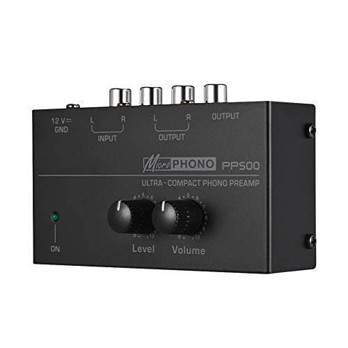 szlsl88 Voorversterker PP500-interface phonograaf draagbare phono-voorversterker Home Audio Stereo metaal elektronische…