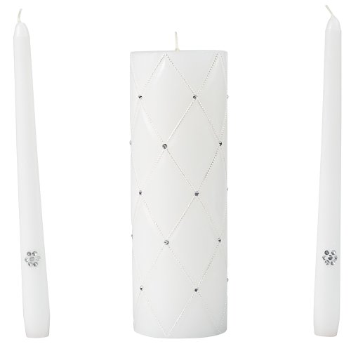 Wilton Graceful Wedding Day Collection Unity Candle and Taper Candles Set by Wilton