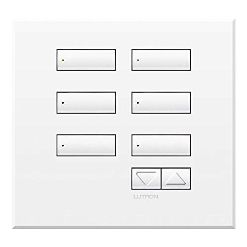 Lutron QSWE-6BRLI-SN See Touch QS Wall Station 6-Button