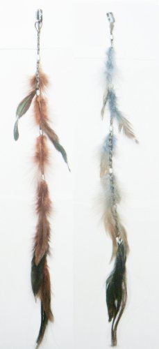 Optical Coating Brand. 2 X Colored Feather Hair Extension...