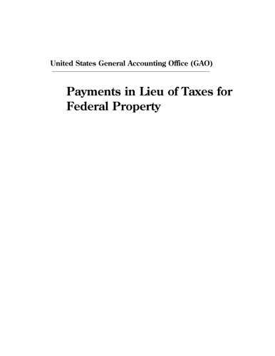 Payments in Lieu of Taxes for Federal Property