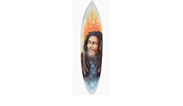 Interlifestyle Bob Marley Tabla de Surf 100cm con Pincel Jamaica Motivo Decoración Tabla de Surf Aus Madera Dura: Amazon.es: Hogar