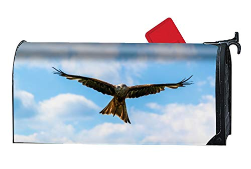 WilBstrn Flying Falcon Bird Magnetic Mailbox Cover, Decorative Garden Outdoor Customized Mailbox Wrap Standard