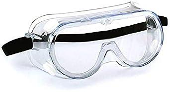 WIWJ Gafas Protectoras de Seguridad,Lentes Livianos de Visión Amplia, Lentes Transparentes Protección Ocular Ajustable para Laboratorio de Construcción Splash Home Lawn
