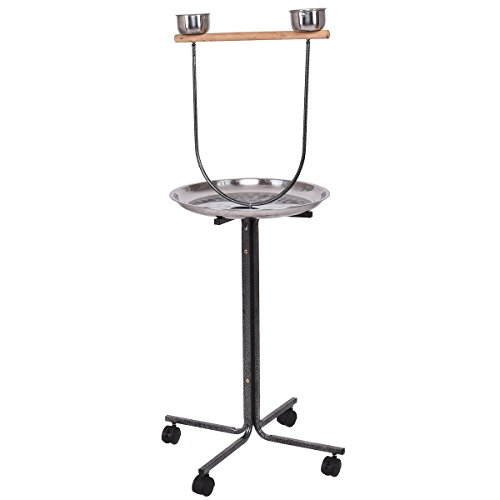"Giantex 51"" Parrot Playstand Bird Stand Perch w/Stainless St"