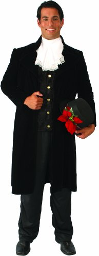Dickens Dress Costumes (Alexanders Costumes Mr. Dickens Jacket, Black, Large)