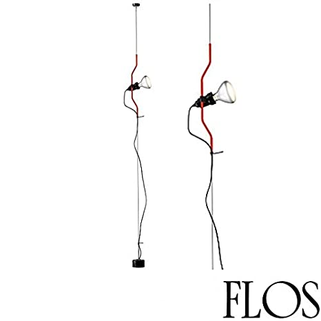 flos parentesi 105w halogen or led pendant floor lamp red made in rh amazon com Wiring Diagram for Antique Lamps 3-Way Lamp Switch Wiring Diagram