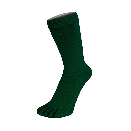 TOETOE Essential - Plain Mid-Calf Toe Socks (Deep - Toe Plain Mid
