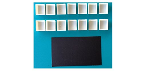 DayBook Studio Empty Watercolor Paint Pans - 14 Pans with 1 Magnetic Strip by DayBook Studio