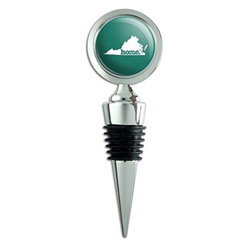 - Virginia VA Home State Wine Bottle Stopper - Solid Teal