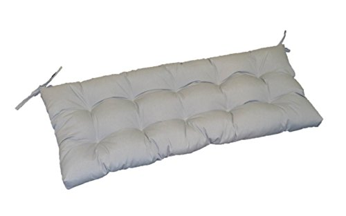 Solid Dove Gray / Grey Indoor / Outdoor Tufted Cushion with Ties for Bench, Swing, Glider - Choose Size (72