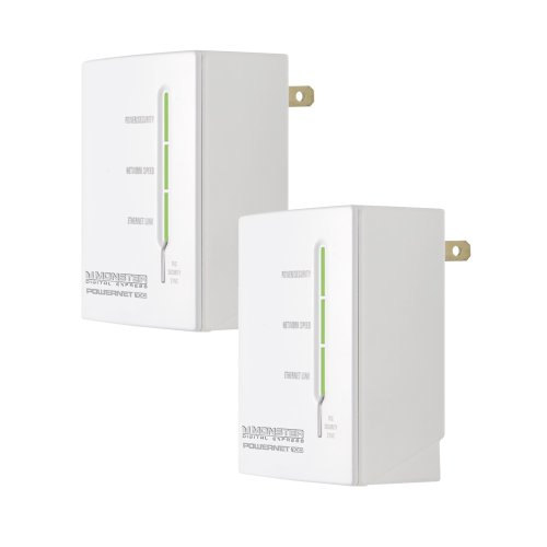 Monster PowerNet 100 Power Line Network Kit Starter Pack (Discontinued by Manufacturer) by Monster