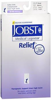 Jobst Knee-High Relief Hose 30-40 mmHg - Beige - Medium, Pack of 4