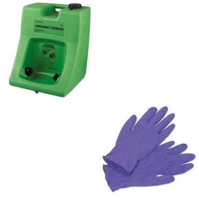 KITFND320002300000KIM55082 - Value Kit - Honeywell Fendall Porta Stream II Eye Wash Station (FND320002300000) and KIMBERLY CLARK PURPLE NITRILE Exam Gloves (KIM55082)