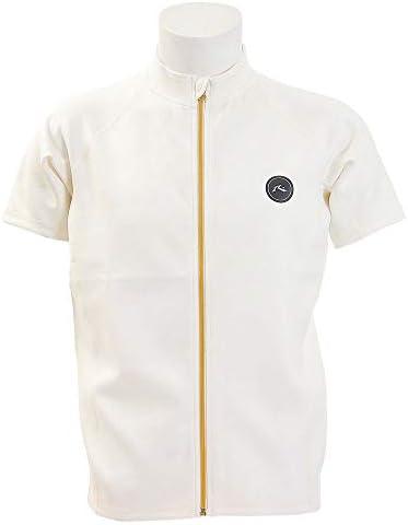 ラスティ RUSTY 日本正規品 メンズ ラッシュガード 半袖イエロー ロゴ ファスナー バックプリント