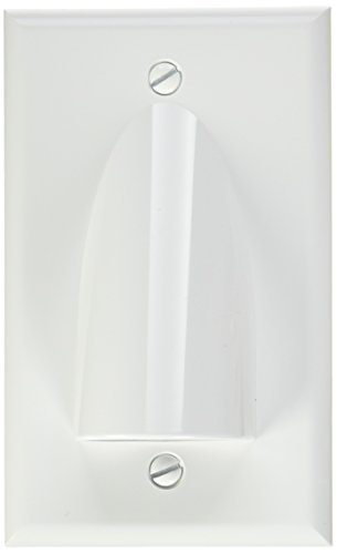 Vanco WPBWWX Single Gang Bulk Cable Wall Plates (White)