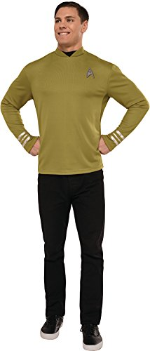 Original Series Star Trek Costumes (Rubie's Costume Co. Men's Star Trek: Beyond Captain Kirk Costume Shirt, As Shown, X-Large)