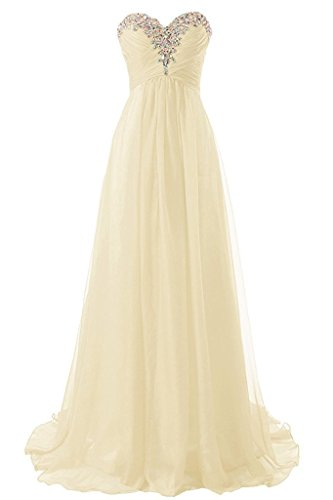 (Loffy Sweetheart Formal Evening Dresses Strapless Long Prom Gown Bridesmaid Dress Champagne Size 20)