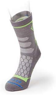 FITS Light Hiker Mini-Crew Lightweight Padded Wool Hiking Socks for Outdoors