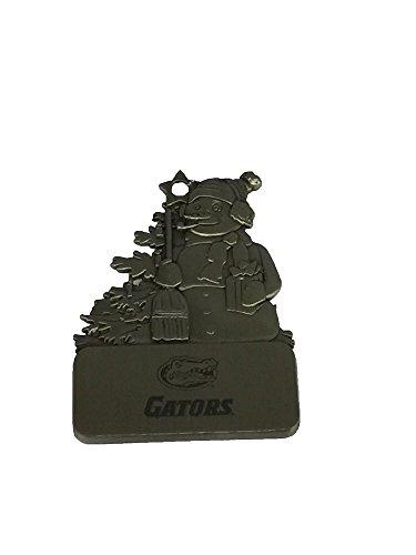 Snowman Florida Gators (Florida Gators Pewter Snowman Christmas Ornament)